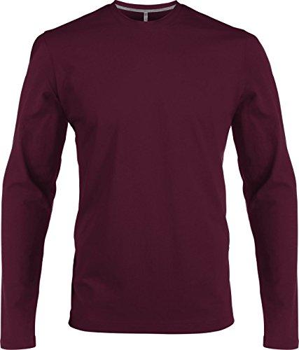 Herren T-Shirt langarm (XL, wine)