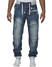 Eto Mens Designer Jeans Cuffed Leg Jogger Denim Pants Bottoms in 6 Styles 2913cb2d86c8