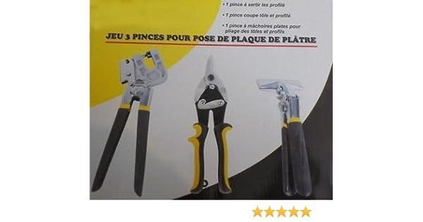 3 Pinces A Placo Plaque De Platre Plaquiste Avec Pince A Sertir Profile Pince Coupe Tole Coupante Et Pince De Pliage De Montant A Mâchoire