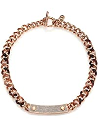 8681b7d727a6 Michael Kors MKJ4323 Blush Tort Rose Gold Plaque Necklace
