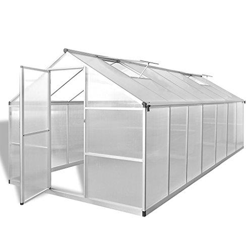 Festnight serra con telaio di base in alluminio rinforzato 3,46 m² e 10,53 m²