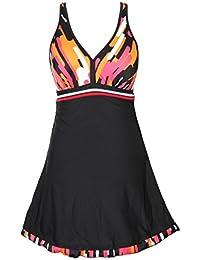 winc freecolor V de pico Bañador Bañador para mujer Push up de baño vestido ...