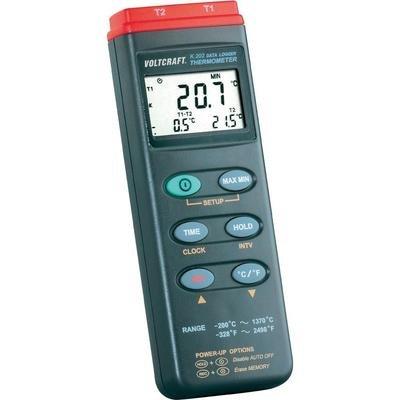 Preisvergleich Produktbild Voltcraft K202 Temperatur-Messgerät -200 bis +1370°C Fühler-Typ K Datenlogger-Funktion Kalibriert