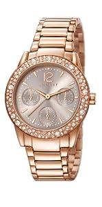 Esprit ES107152002 - Reloj de cuarzo para mujer, con correa de acero inoxidable, color oro rosa de Esprit