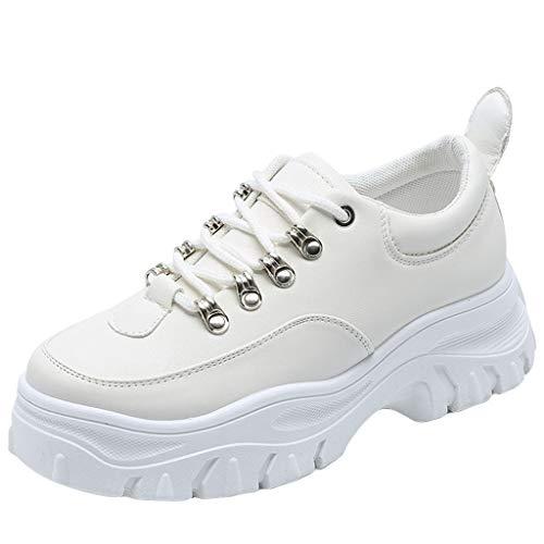 Scarpe Sportive Donna Scarpe a Collo Basso Donna Piattaforme Sneakers Mix Colori Morbidi Calzature per Il Tempo Libero per Donne/Ragazze di Kinlene