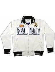 Sudadera blanca del Real Madrid Surm09 Talla-M