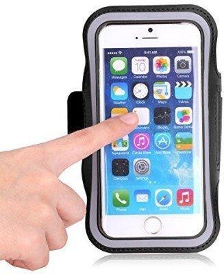 Bainsh Gym Sports Armband Large Screen Size(4.5 to 5.5 Inch) Smart Phone(Black) for Xiaomi Redmi Note 4, Mi4I, Mi 4, Mi 5