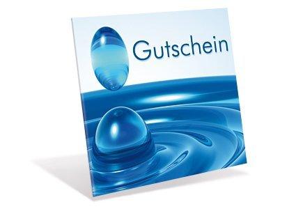 Gutscheinkarten Kleeblatt (10 Stück) für Einzelhandel, Wellness - Gutschein Philosophie in außergewöhnlicher Form mit runden Flügeln verschließbar!