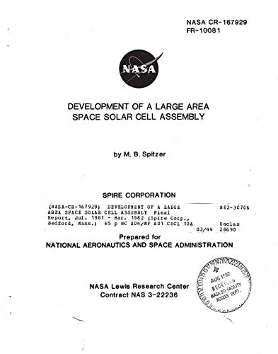 Development of a large area space solar cell assembly (English Edition) Cell Assembly