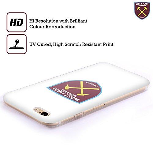 Ufficiale West Ham United FC Colore Pieno 2016/17 Crest Cover Morbida In Gel Per Apple iPhone 6 / 6s Colore Pieno Bianco