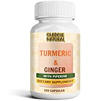 Oladole Natural Turmeric Curcumin with Ginger and Bioperine Vegan Join Pain Relief, Anti-Inflammatory, Antioxidant and Anti-Aging Supplement