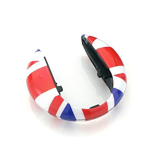 QIDIAN Schlüsselanhänger-Gehäuse für Mini Cooper Zubehör für Mini Countryman F60 F54 F55 F56 F57 Clubman Auto, Red Union Jack A