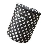 Wasserdicht und faltbare Fahrradkorb mit Deckel Aufbewahrungsbox Schwarz/Weiß