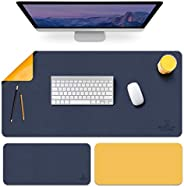 Large Mouse Pad XL, Non-Slip PU Leather Desk Mouse Pad Waterproof Desk Pad Protector, Desk Writing Mat for Off