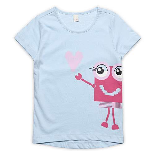 ESPRIT KIDS Mädchen Short Sleeve Tee-Shirt T-Shirt, per Pack Blau (Light Blue 404), 92 (Herstellergröße: 92+) -