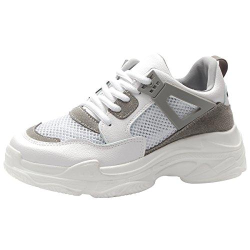 Kivors Zapatos de Deportes Mujer Zapatillas de Correr para Mujer Aire Libre Deporte Montaña y Asfalto Transpirables Casual Zapatos Gimnasio Correr (39 EU, Gris)