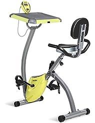 INTEY Heimtrainer Magnetisches Widerstand Fitnessfahrrad mit Schreibtisch als Arbeitsplatz, Lautloser Fahrradtrainer für Hausgebrauch und Büro