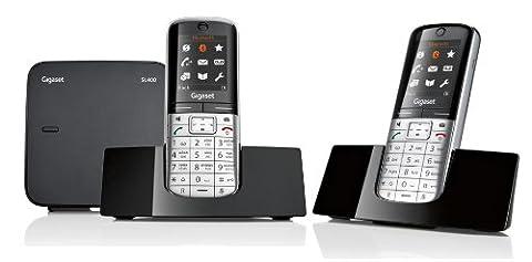 Gigaset SL400 / SL 400 DUO ohne Anrufbeantworter mit insgesamt 2 Mobilteilen metall / schwarz