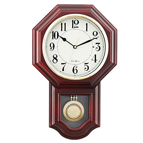 b0b5323eae60  Los relojes de pared Reloj de pared Sin tictac Funciona con batería Número  decorativo Péndulo