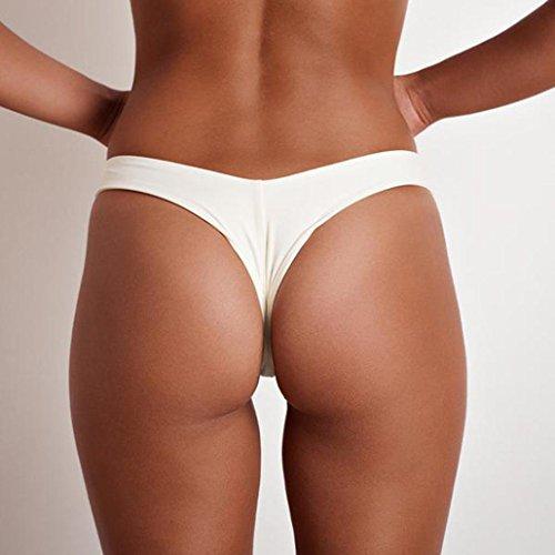 Pantaloni di costume da bagno della spiaggia del cinghia di V di XXL delle donne di modo ALISIAM White