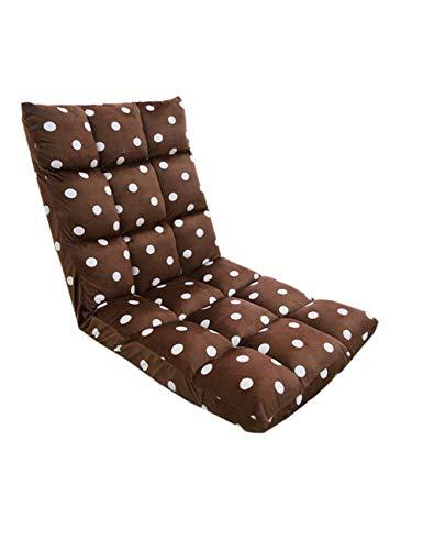 KRUIHAN Falten Entspannend Lazy Sitzkissen - Gemütlich Tragbar Sofa Liege Büro Stuhl Bett Single Nickerchen Wohnheim Zuhause Bodenmatte Braun