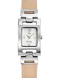 Go Girl Only Damen-Armbanduhr 696874–Quarz–Analog Zifferblatt Silber Armband Leder beige
