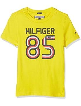 Tommy Hilfiger Ame Global Stripe Series tee S/S, Camiseta para Niños