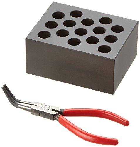 Witeg Heizblock BLC515 15 Löcher 15ml konische Reaktionsgefäße, Ø16x46mm, konischer Boden, für Blockthermostat HB-48/-96/R-48