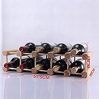IG Estantes de Vino de Madera Maciza Estantes de Vino Adornos de Madera de Pino Muebles