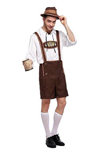 (Bslingerie Herren Kostüm Oktoberfest Beer Bavarian Guy Hosen (M, Beer Bavarian Guy))