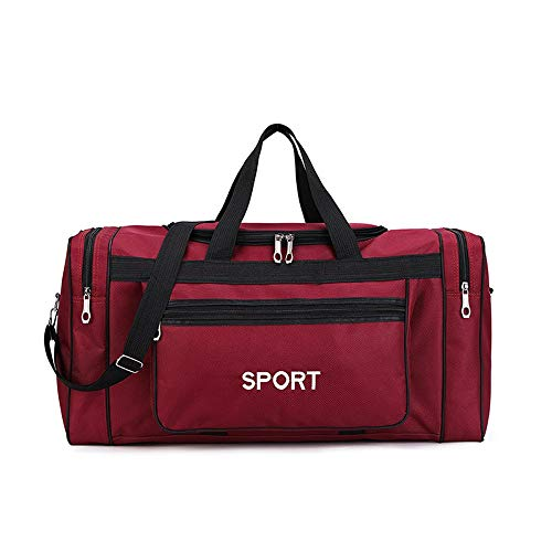 YzDnF Persönlichkeit Sporttasche for Männer Frauen, Reise Weekender Sports Workout Duffel Schwimmsporttasche - Unisex Sport Sporttasche (Farbe : Rot, Größe : 58x24x32cm)