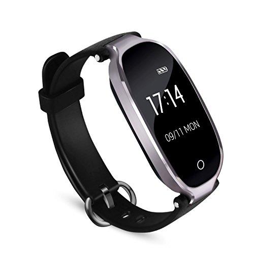 Fitness Tracker, AGPTEK Wasserdicht Fitness Armband Uhr mit mit Herzfrequenz, Schrittzähler Fitness Uhr Pulsmesser Schlafmonitor Kalorienzähler, Pulsmesser, Anruferinnerung SMS, Grau