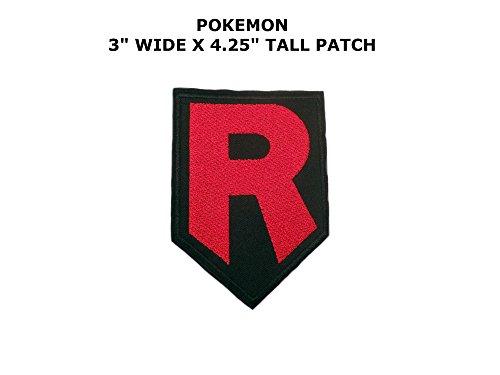 Charaktere 007 Kostüm - Athena Pokemon Go Team Rocket R 10,2cm Logo bestickt Eisen/Aufnäher Patch Aufnäher