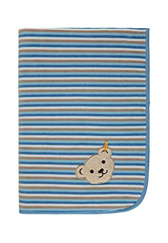 Steiff Unisex Baby Decke Nicky Schlafsack, Blau (Allure|Blue 3110), One Size (Herstellergröße: 00)