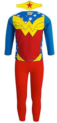 DC Super Hero Girls - Conjunto Pijama - para niña - 9712HR [Azul Wonder Woman - 6 años - 116 cm]