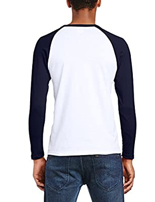 Fruit of the Loom Men's Baseball Raglan Long Sleeve T-Shirt