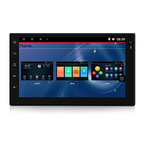 Qiilu Auto MP5 Spieler HD Touch Screen 7'' Android 6.0 Bluetooth Auto Video Navigation FM Radio Geeignet für PKW, LKW usw.