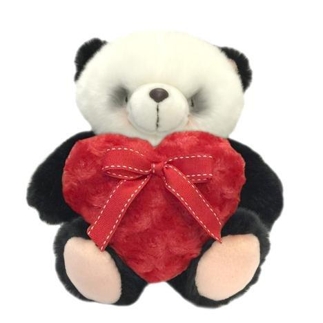 25,4cm Rouge Fluffy Cœur Forever Friends Ours Panda
