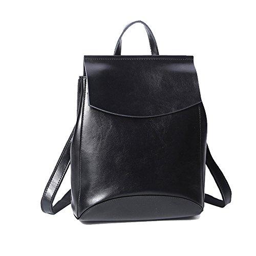 Anne , Damen Rucksackhandtasche schwarz schwarz Schwarz