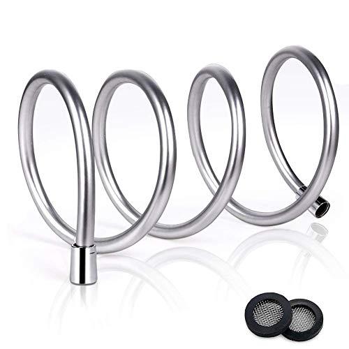 Joyoldelf 1.5m Premium tubo da doccia in PVC non tossico con filtro e anello di tenuta anti esplosione