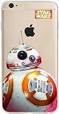 STAR WARS AND MARVEL ;trasparente in poliuretano termoplastico per iPhone-Cover per Apple iPhone 5, 5S, 5C, 6/6S ,7 (iphone 6/6s, Star Wars BB8)