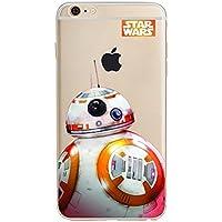 STAR WARS AND MARVEL ;trasparente in poliuretano termoplastico per iPhone-Cover per Apple iPhone 5, 5S, 5C, 6/6S ,7 (iphone 5/5s, Star Wars BB8)
