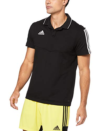 adidas Herren TIRO19 CO Polo Shirt, Black/White, 3XL