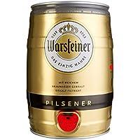 Warsteiner Premium Pilsener 5 Liter Fass – Partyfass mit Zapfhahn – Internationales Bier nach deutschem Reinheitsgebot – Pfandfreies Bierfass auch im Spar-Abo erhältlich
