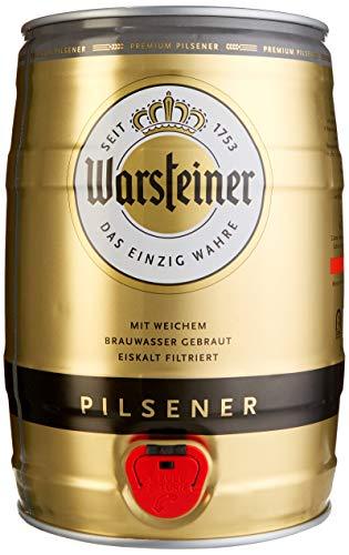 Warsteiner Premium Pilsener 5 Liter Fass / Partyfass mit Zapfhahn / Internationales Bier nach deutschem Reinheitsgebot / Pfandfreies Bierfass auch im Spar-Abo erhältlich