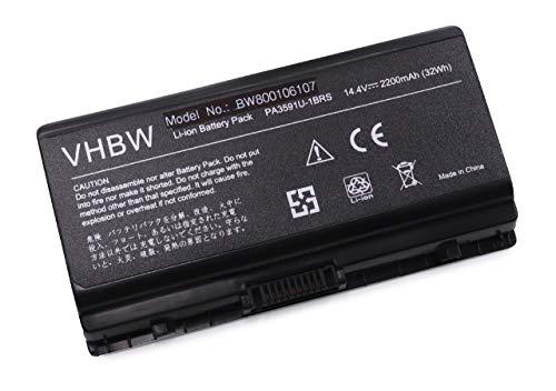 vhbw Li-Ion Akku 2200mAh (14.4V) für Notebook Laptop Toshiba Satellite L40-12X, L40-12Y, L40-12Z, L40-137, L40-139 wie PA3591-1BAS, PA3591U-1BRS. - 1bas Notebook