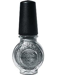 Vernis Powdery silver (argent pulvérulent) stamping nail art Konad - 11ml Nouveau