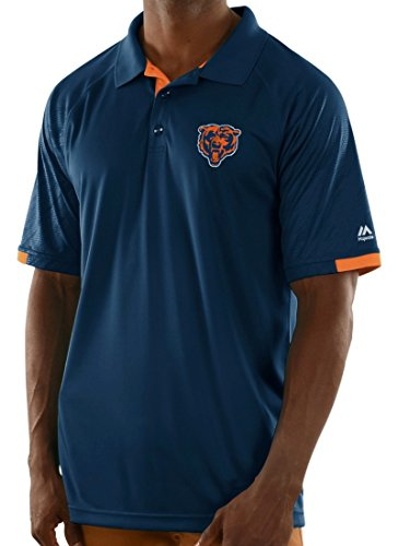 "Chicago Bears Majestic NFL ""Club Level"" Men's Short Sleeve Polo Shirt"