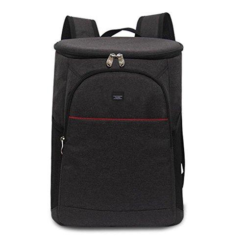 Ljourney impermeabile borsa termica zaino 18l, grande capacità termica borsa frigo da campeggio, per famiglia viaggio trekking arrampicata picnic 3colori nero