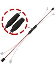 POWRX Schwingstab teilbar | Swingstick ideal für unterwegs | 2-teilig mit Schraubgewinde